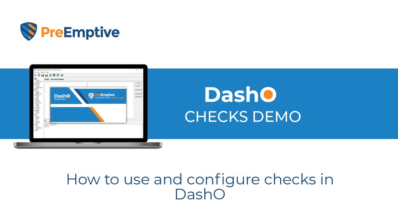Configuring Checks in DashO