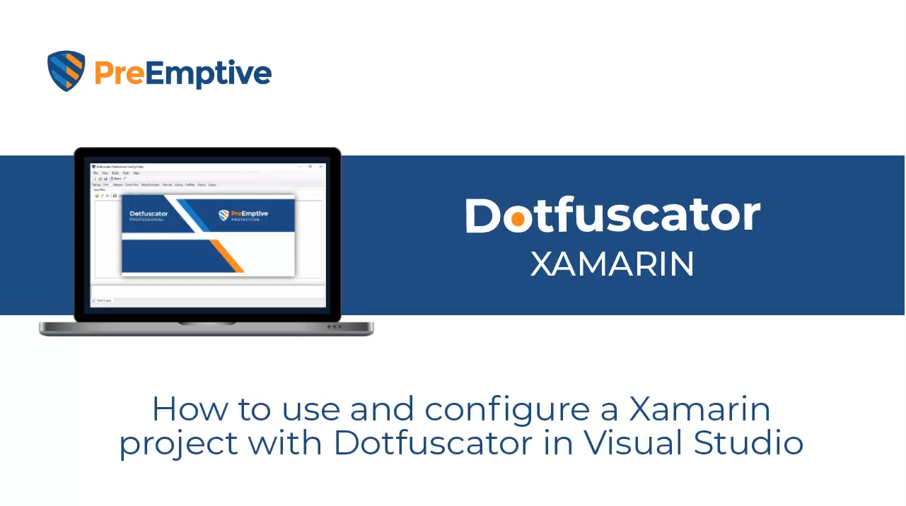Protecting a Xamarin app with Dotfuscator